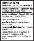 Horny Goat 400 mg/ 40 Caps.