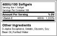 Vitamin E Formula 100 Softgels.