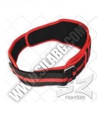 SZ FIGHTERS Fitness Belt /Nylon/ Red