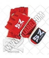 SZ FIGHTERS MMA Gloves /Leather-Red/