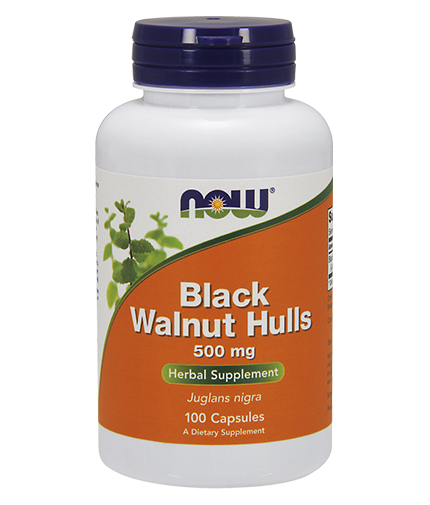 NOW Black Walnut Hulls 500mg. / 100 Caps.