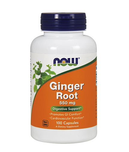 NOW Ginger Root 550mg. / 100 Caps.
