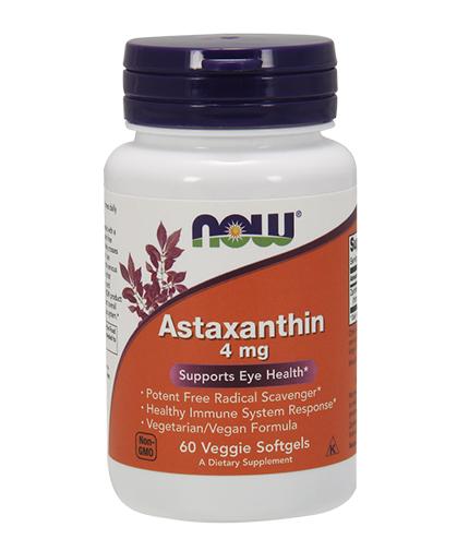 NOW Astaxanthin 4mg. / 60 Veggie Softgels