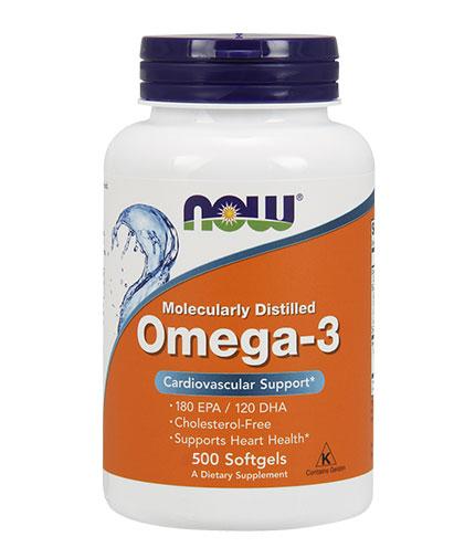 NOW Omega 3 Fish Oil 1000 mg. / 500 Softgels