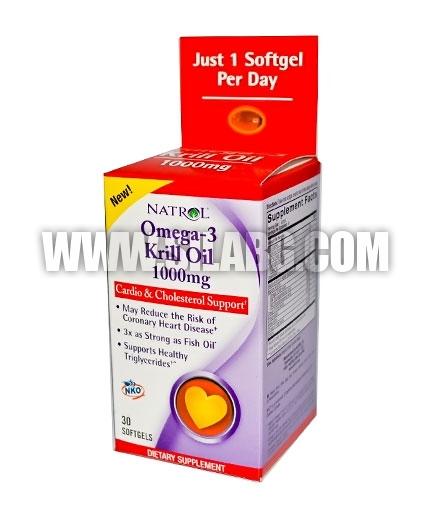 NATROL Omega-3 Krill Oil 1000mg. / 30 Softgels