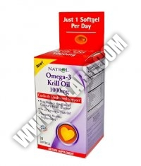 NATROL Omega-3 Krill Oil 1000mg. / 30 Softgels