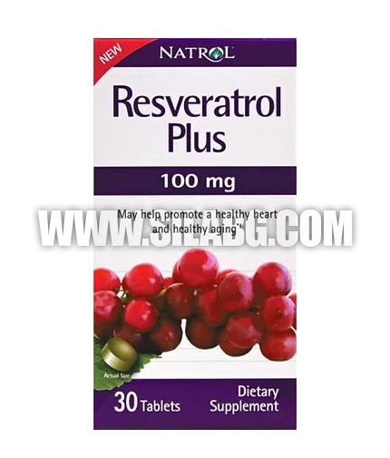 NATROL Resveratrol Plus 100mg. / 30 Tabs.