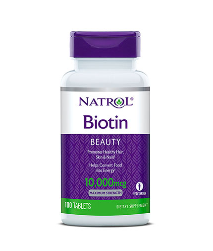 NATROL Biotin Maximum Strength 10,000 mcg. / 100 Tabs.