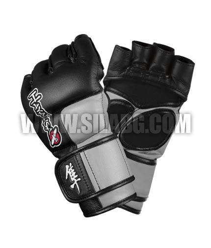 HAYABUSA FIGHTWEAR Tokushu 4oz MMA gloves black/state grey
