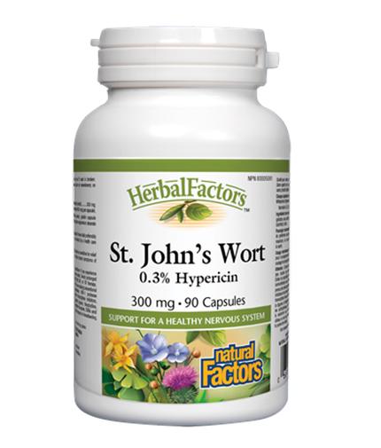 NATURAL FACTORS St. John's Wort Extract 300mg. / 90 Caps.