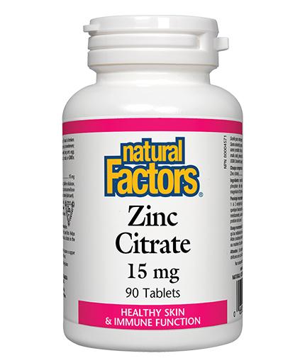 NATURAL FACTORS Zinc 15mg. / 90 Tabs.
