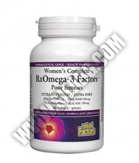 NATURAL FACTORS Women's Complete RxOmega-3 Factors 1035mg / 60 Softgels.