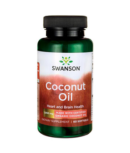 SWANSON Certified Organic Coconut Oil 1000mg. / 60 Softgels