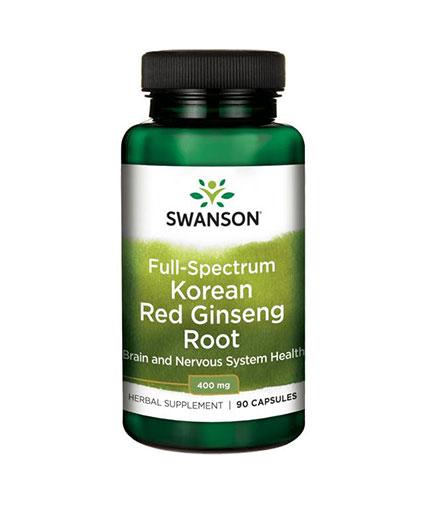 SWANSON Full-Spectrum Korean Red Ginseng Root 400mg. / 90 Caps.