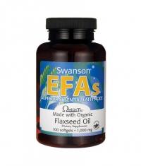SWANSON Flaxseed Oil 1000mg. / 100 Softgels.