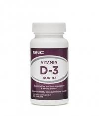 GNC Vitamin D-3 / 400 iu / 100 Tabs.
