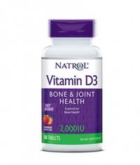 NATROL Vitamin D3 2,000 IU Fast Dissolve / 90 Tabs.