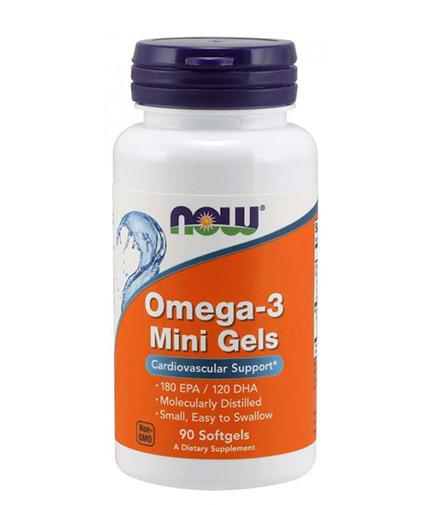 NOW Omega-3 Mini Gels 500mg / 90 Softgels