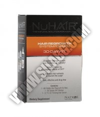 NuHAIR Men's Kit /Hair Regrowth + DHT Blocker + Thinning Hair Serum/ 30 Day Supply