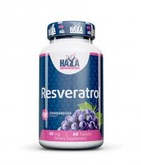 HAYA LABS Resveratrol 40mg. / 60 Tabs.