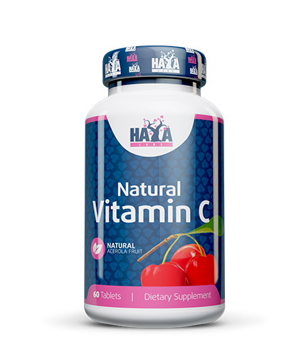 HAYA LABS Natural Vitamin C from Organic Acerola fruit 60 Tabs.