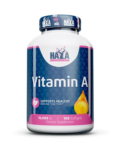 HAYA LABS Vitamin A 10,000 IU / 100 Softgels