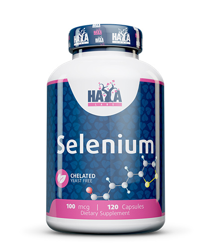 HAYA LABS Selenium /Chelated - yeast free/ 100mcg. /  120 caps.