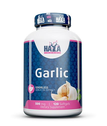 HAYA LABS Odorless Garlic 500mg. / 120 Softgels