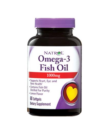 NATROL Omega-3 Fish Oil 1000mg. / 60 Softgels