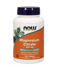 NOW Magnesium Citrate 200mg. / 250 Tabs.