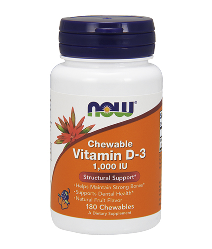 NOW Vitamin D-3 / 1000 IU / 180 Chewables
