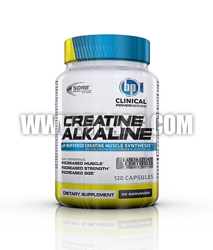 BPI SPORTS Clinical Creatine Alkaline 120 Caps.