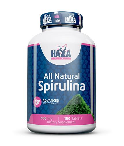 HAYA LABS All Natural Spirulina 500mg. / 100 Tabs.