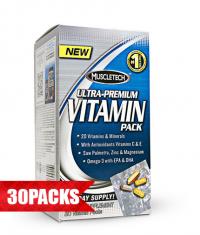 MUSCLETECH 100% Ultra Premium Vitamin Pack 30 Packs.