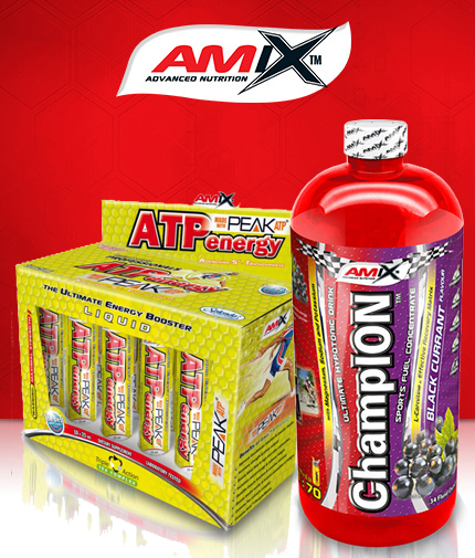 PROMO STACK AMIX ATP Energy Liquid 25 ml.  10 Amp. / AMIX ChampION ™ Sports Fuel 1000ml.
