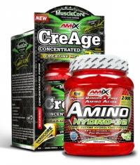 PROMO STACK Amix Amino Hydro-32 550 Tabs + Amix CreAge 50% OFF