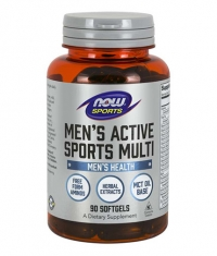 NOW Men's Active Sports Multivitamin / 90 softgels