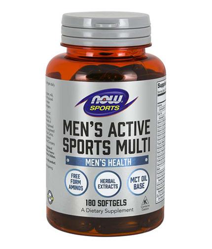 NOW Men's Active Sports Multivitamin / 180 softgels