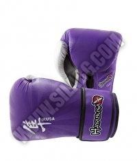 HAYABUSA FIGHTWEAR Ikusa 16oz Gloves - Purple / White