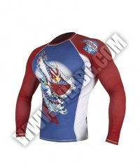 HAYABUSA FIGHTWEAR Ninja Falcon Rashguard Long Sleeve Blue/ Red