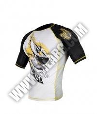 HAYABUSA FIGHTWEAR Ninja Falcon Rashguard Short Sleeve Black/ Yellow