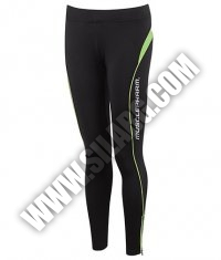 MUSCLE PHARM Ladies Leggings / black-green