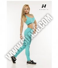 NEBBIA 807 Mini Top Supplex / aqua