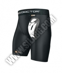 SHOCK DOCTOR Core Compression Short with BioFlex Cup / Adult / Black
