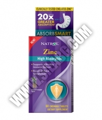 NATROL Zinc High Absorption / 60 chew tabs.