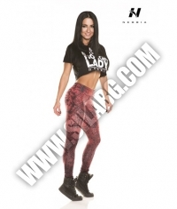 NEBBIA 880 LEGGINGS ART BORDO