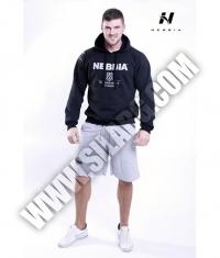 NEBBIA 991 Мen's Hoodie Bodybuilding  / black