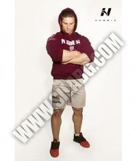 NEBBIA 991 Men's Hoodie Bodybuilding / Bordeaux