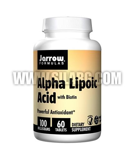 Jarrow Formulas Alpha Lipoic Acid + Biotin 100mg. / 60 Tabs.