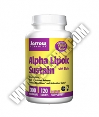 Jarrow Formulas Alpha Lipoic Sustain + Biotin 300mg. / 120 Tabs.